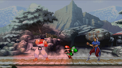 MuttEngine demo using Street Fighter and Mario World 2 Sprites